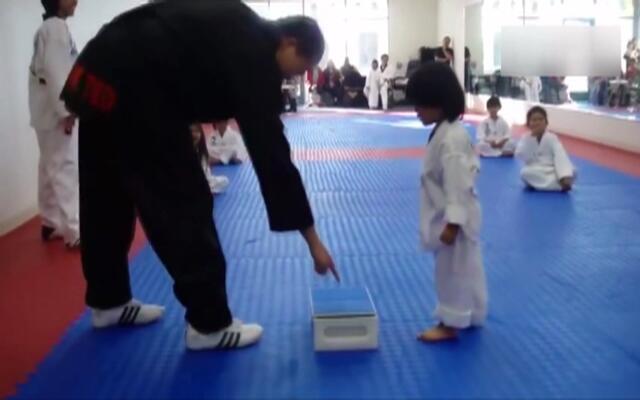 萌翻啦!小正太练习跆拳道