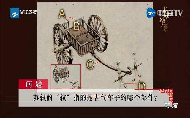 《中华好故事》以苏轼之名猜古代车子部件
