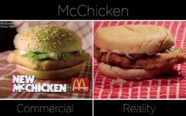 麦当劳广告和实物的差别有多大?