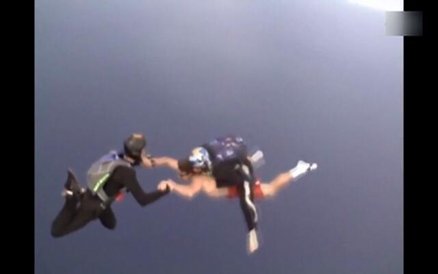 作大死!他不带跳伞就从飞机上跳了下去