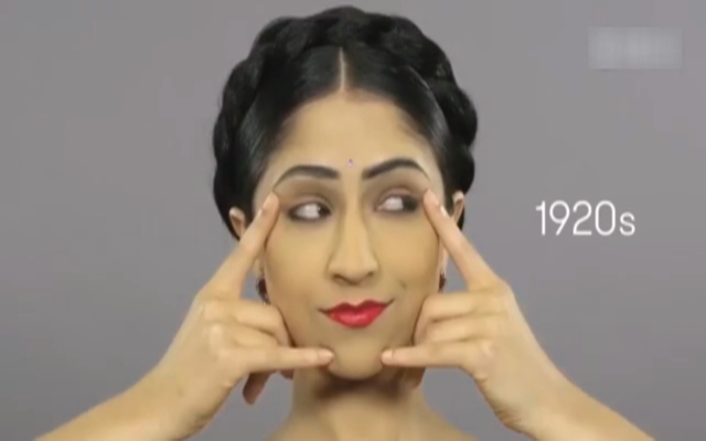 100年印度妆容的发展