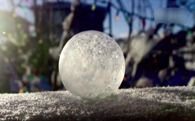 南方的孩子都没见过的泡泡结冰