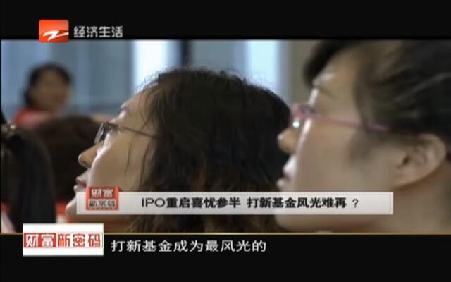 20151116《财富新密码》:IPO重启喜忧参半  打新基金风光难再?