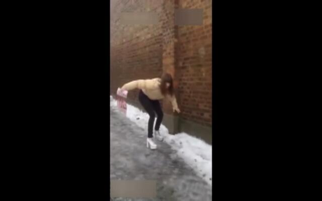 在冰天雪地里穿高跟鞋是什么样的体验