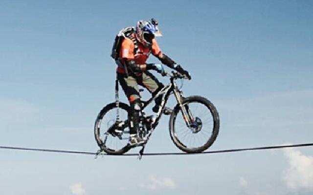 自行车高空走扁带