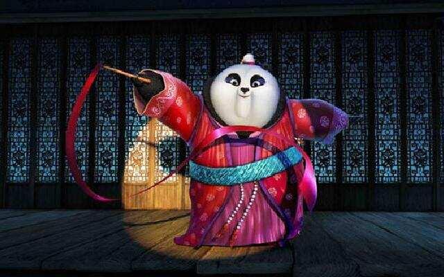 """《功夫熊猫3》杨幂版美美秀""""骚""""气舞姿 画面太美不敢看"""