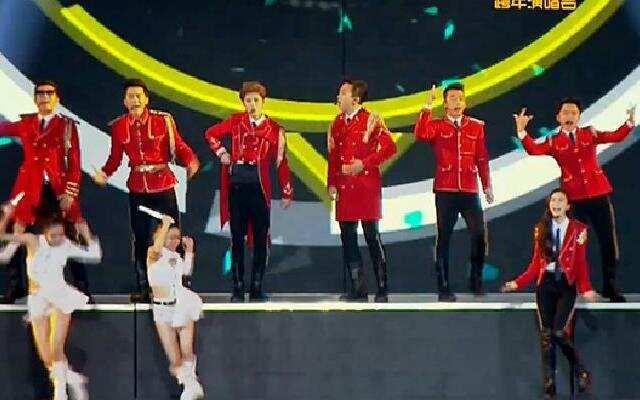 2016浙江卫视跨年演唱会:开场表演《超级英雄》