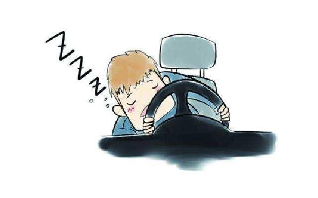 1818在路上:车停路中央人睡着了? 太可怕!