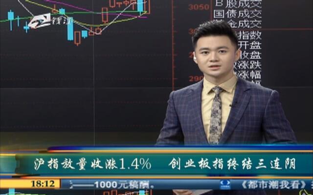 沪指放量收涨1.4%  创业板指终结三连阴