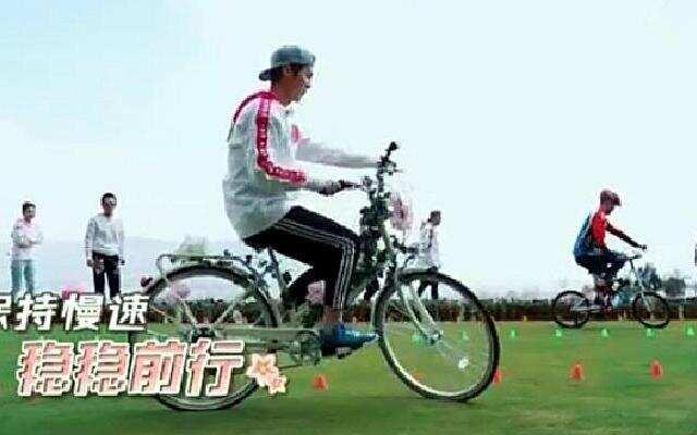 鹿晗成自行车高手