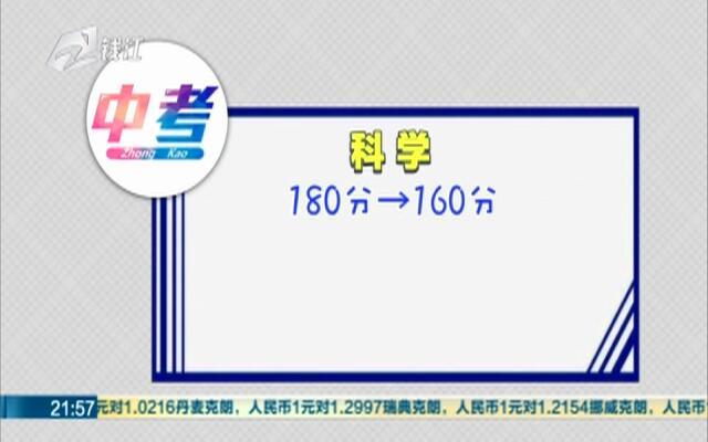 杭城1.5万名学生明天中考  今年政策有哪些变化