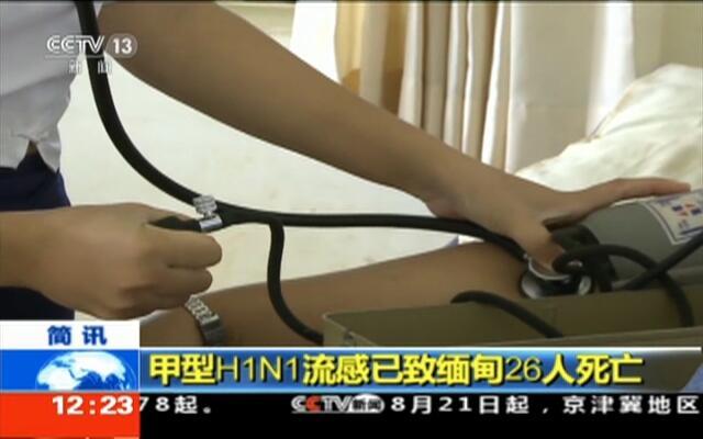 甲型H1N1流感已致缅甸26人死亡