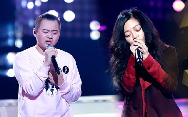 第二季《中国新歌声》夏启明《全世界谁倾听你》VS李雅《越过山丘》