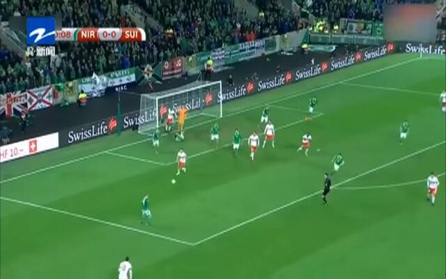 世预赛附加赛:争议点球助瑞士1-0小胜北爱尔兰
