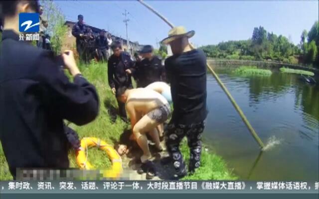 不放弃!  女子溺水呼吸停止  民警抢救坚持不懈