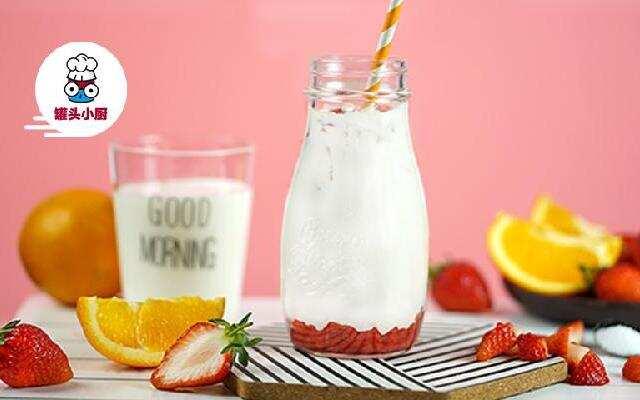 韩式草莓牛奶