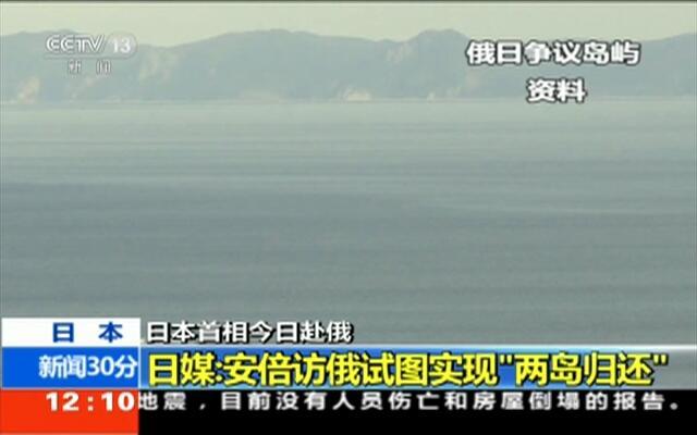 """日媒:安倍访俄试图实现""""两岛归还"""""""