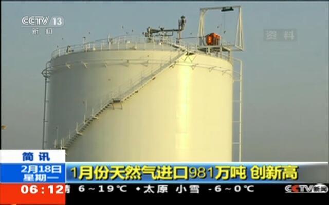 1月份天然气进口981万吨  创新高
