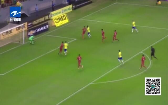 热身赛:内马尔伤退下场  巴西依然轻取卡塔尔