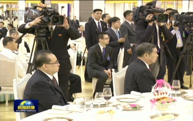 习近平出席朝鲜劳动党委员长 国务委员会委员长举行的欢迎宴会
