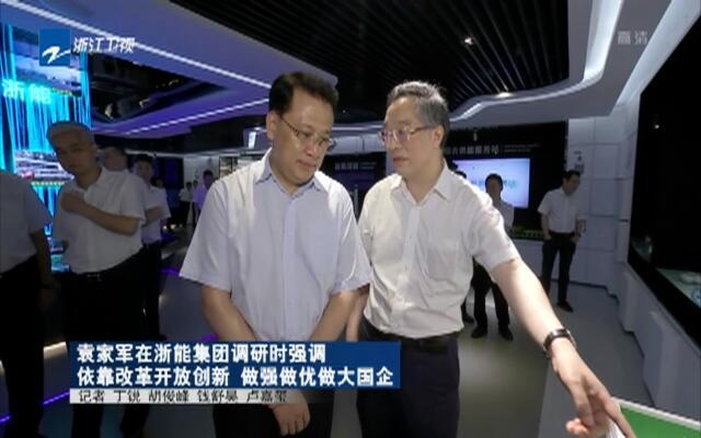 袁家军在浙能集团调研时强调  依靠改革开放创新  做强做优做大国企