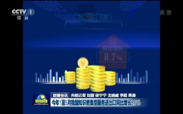 联播快讯:今年1至5月我国知识密集型服务进出口同比增长8.7%