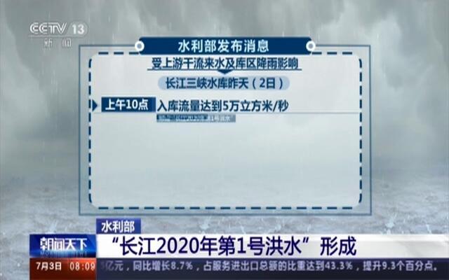 """水利部:""""长江2020年第1号洪水""""形成"""
