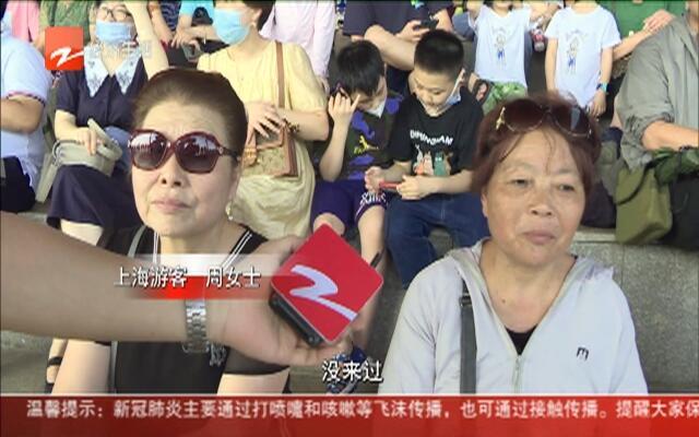 上海游客观潮热情高  舍得花钱不怕累